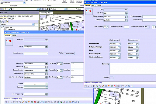 Screenshot Geoinformationssystem